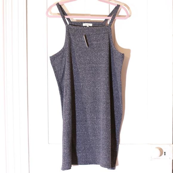 b86ff1fd437 Madewell Heather Gray Sleeveless Bodycon Dress